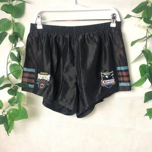 NRL Penrith Panthers 2XL Shorts Black Logos